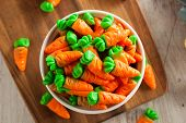 stock photo of easter candy  - Sweet Sugary Easter Candy in a Bowl - JPG