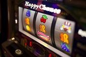 picture of poker machine  - A pachinko machine in a parlour somewhere in Japan - JPG