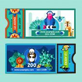 Постер, плакат: Zoo Tickets Set