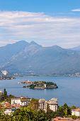 stock photo of lagos  - The splendid view of Lago Maggiore - JPG