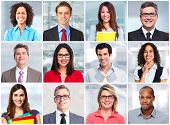 picture of team  - Group of business people face team collage - JPG