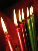 Kwanzaa Candles2redleft