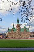 stock photo of copenhagen  - Rosenborg palace is a renaissance castle located in Copenhagen Denmark - JPG
