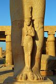 image of ramses  - Fragment of Statue of Ramses II in Karnak temple - JPG