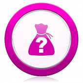 stock photo of riddles  - riddle violet icon   - JPG