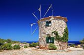 Windmill on Zakynthos island, Greece
