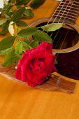 Red Rose Natural Acoustic Guitar