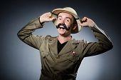 pic of safari hat  - Man in safari hat in hunting concept - JPG