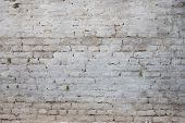 stock photo of stonewalled  - Old vintage grunge urban street rusty brickwall background texture - JPG