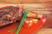 pic of red meat  - meat over white  - JPG