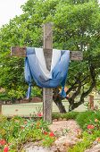 picture of crown-of-thorns  - Wooden cross with thorn crown in Riversdale South Africa - JPG
