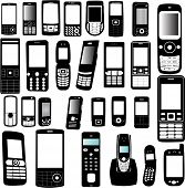 set of mobile phone - vector