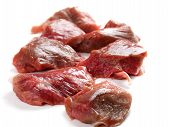 pic of veal  - Raw veal meat isolated on white background - JPG
