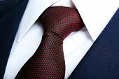 stock photo of coat tie  - Male jacket with shirt and tie close up - JPG