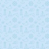 pic of pale  - Seamless pattern with sea and nautical symbols - JPG