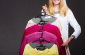 stock photo of clothes hanger  - Retail and sale - JPG