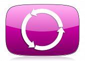 picture of violet  - refresh violet icon reload violet icon   - JPG