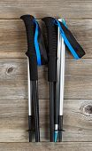 pic of board-walk  - Brand new walking poles for hiking on rustic wooden boards - JPG
