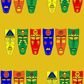 picture of african mask  - Inca masks - JPG