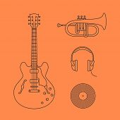 picture of musical instrument string  - Musical instruments icons - JPG