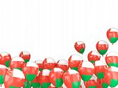 picture of oman  - Flying balloons with flag of oman isolated on white - JPG