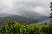 pic of gunung  - Landscape of Batur volcano on Bali island