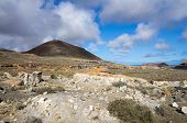 picture of volcanic  - Volcanic landscape of the island of Lanzarote Canary Islands Spain - JPG