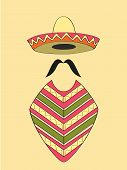 picture of sombrero  - Mexican outfit of sombrero hat - JPG