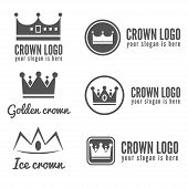 Set of logo, labels, badges, emblems or logotype elements for jewelry, web, business corporate ident poster