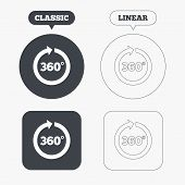 image of math  - Angle 360 degrees sign icon - JPG