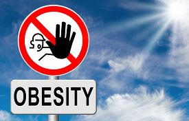 image of obese children  - obesity prevention stop over weight start campaign with low fat diet for obese children and adults with eating disorder - JPG