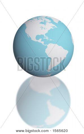 Постер, плакат: 3D визуализации карту глобуса для науки и , холст на подрамнике