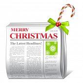 vector christmas greetings newspaper