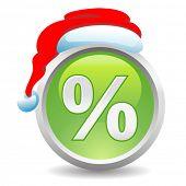 vetor botão de desconto de Natal