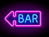 vector neon sign bar