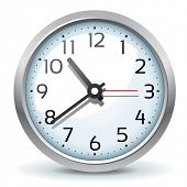 stock photo of chronometer  - vector wall clock icon - JPG