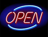 neon vector open sign