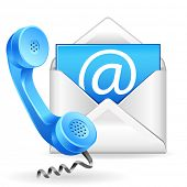 vector contact us icon