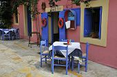 Greek taverna with terrace