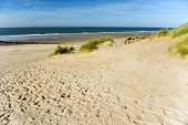 Empty beach at the island Ameland in Holland