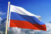 Russia Flag (Clipping Path)