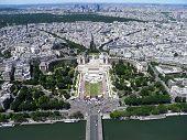 Aerial View of Tracadero Square,Paris