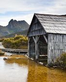 boat shed on Dove Lake