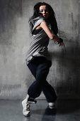 cool hip-hop style dancer posing