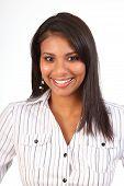 Beautiful black smiling woman