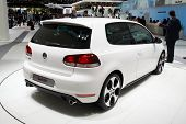 PARIS, FRANCE - OCTOBER 02: Paris Motor Show on October 02, 2008, showing Volkswagen Golf GTI, rear