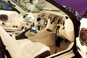 HELSINKI, FINLAND - OCTOBER 3: X-Treme Car Show, showing interior of tuned 1994 Toyota Supra on Octo