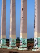 Grafitti on base of power lines
