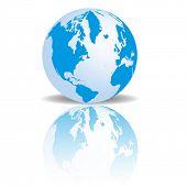 A vector image of a 3D globe