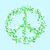 Leaves forming a peace sign